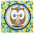 Owl Blue Napkins 